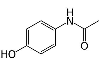 Molécule de paracétamol