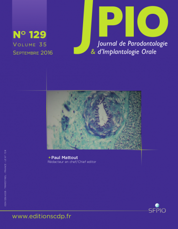 JOURNAL DE PARODONTOLOGIE ET D'IMPLANTOLOGIE