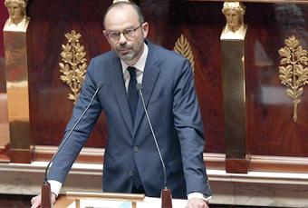Edouard Philippe lors de sa déclaration de politique générale
