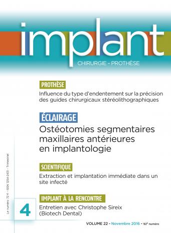 Couverture revue Implant
