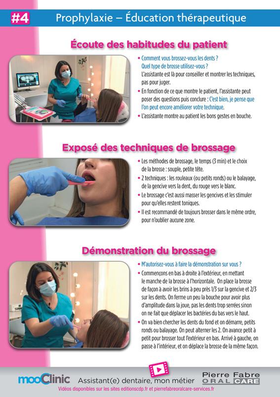 Fiche pédagogique sur l'importance de l'hygiène avant tout traitement.